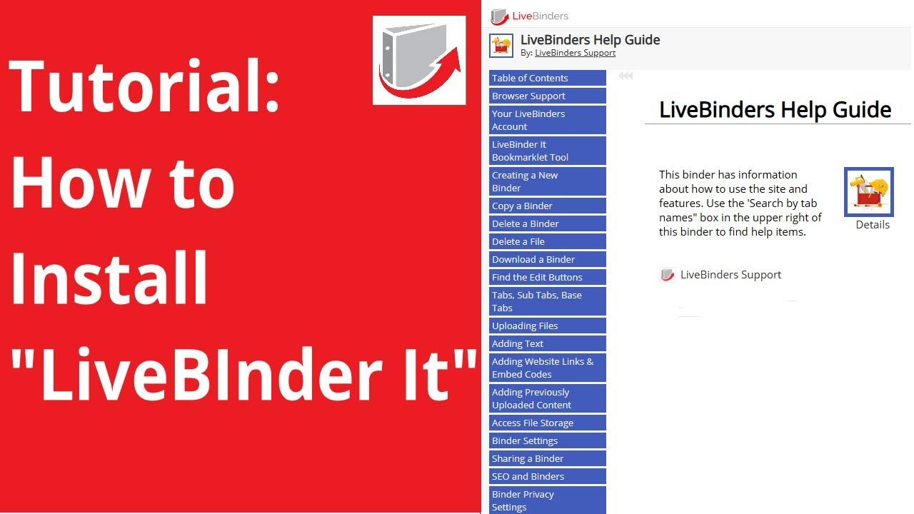 LiveBinders Help