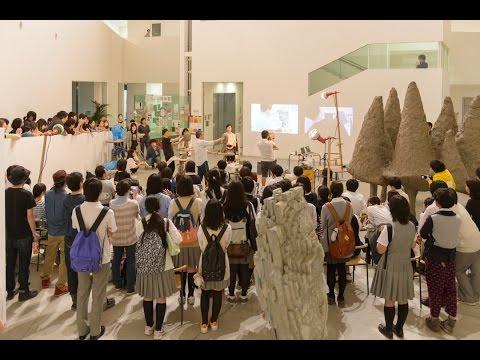 東京造形大学彫刻4年選抜展'15「塑造デモンストレーション」後方カメラ