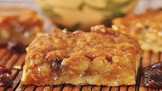 Butter Tart Squares Recipe Demonstration