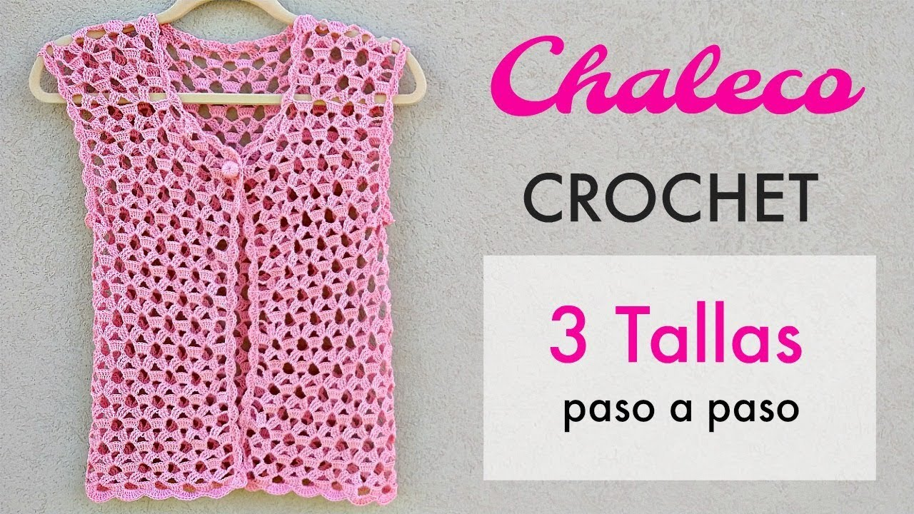 TEJE CHALECO A CROCHET PASO A PASO - YouTube