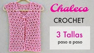 TEJE CHALECO A CROCHET PASO A PASO