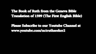 08. Book of Ruth Geneva Bible Translation