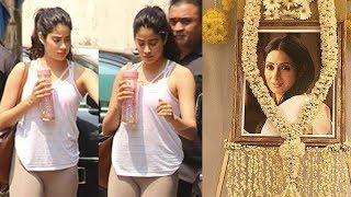 Sad Jhanvi Kapoor Snapped Outside Gym After Sridevi Death In Dubai