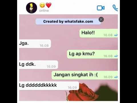 Fake Chat ,yang Jomblo Bisa Apa😂?