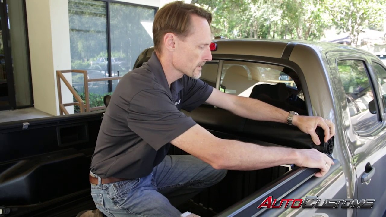 How To Install Gator Sr1 Roll Up Tonneau Cover On A Toyota Tacoma Youtube