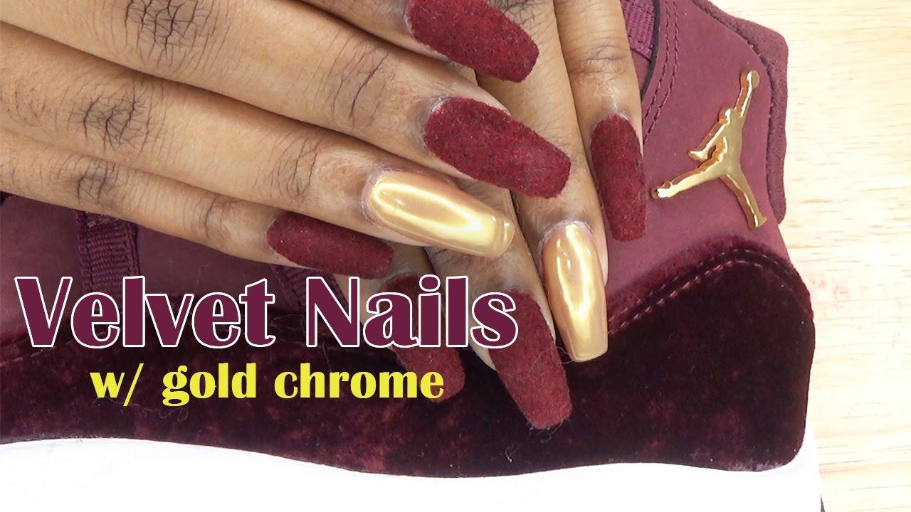 093e8b2b7f4e Velvet Nails w  Gold Chrome