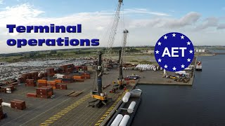Antwerp EuroTerminal AET - Terminal operations compilation Port of Antwerp - One hour long 100GB thumbnail