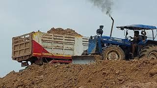 แรง nะลุกองดิน รถไถ FORD 6610 สองเพลา วางโบ ดั้มจัด tractor and truck EP.8560