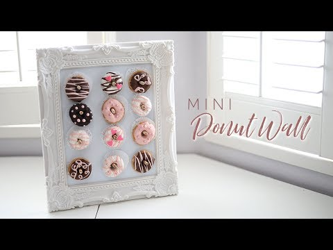 DIY DOLLAR STORE MINI DONUT WALL + DECORATE YOUR OWN DONUTS