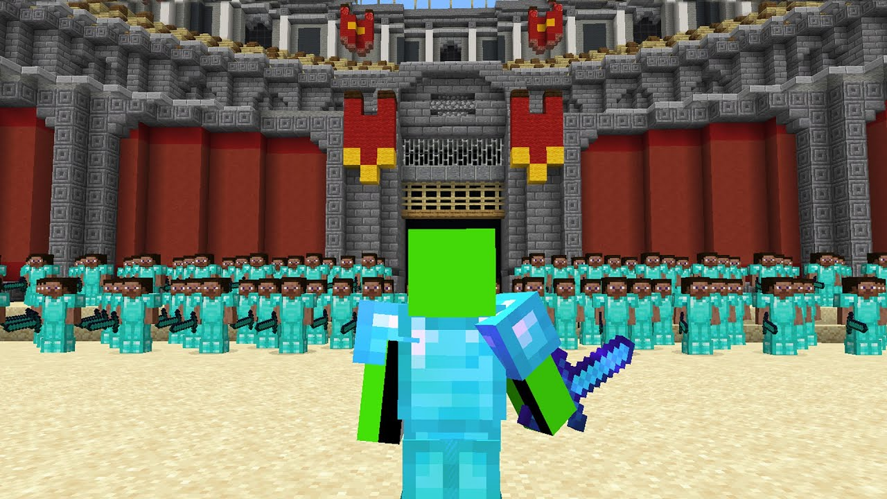 Best Minecraft Player vs 100 Players!