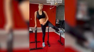 María Pombo se machaca en el gimnasio