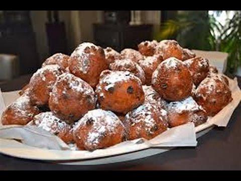 Dutch Doughnuts With Currants And Raisins Recipe Dutch Oliebollen Delicatessen Recipes Asmr Youtube