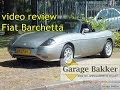 Video review Fiat Barchetta 1.8 16v, 1999, XX-LZ-84