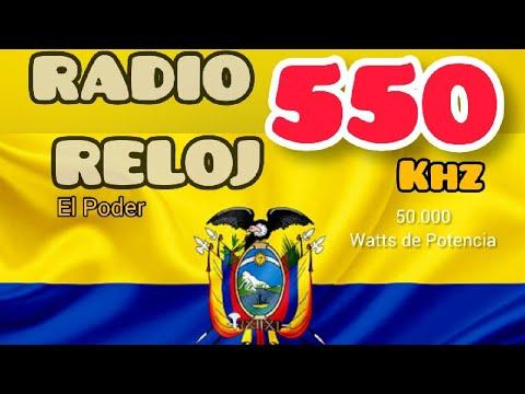 Radio Reloj ; Quito, Ecuador 550 MW