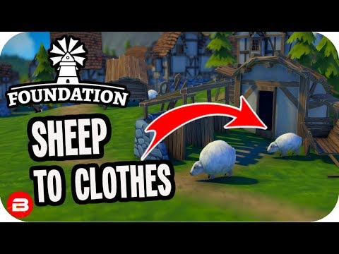 Foundation: ▶Sheep to Clothing Production Line◀ Medieval City Building Game #5 (Alpha)