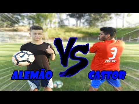 CASTOR vs ALEMÃO (Desafios de Futebol)