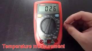 UNI-T UT33C multimeter review