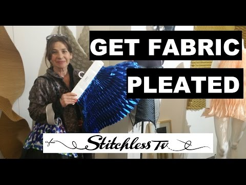 Get fabric pleated