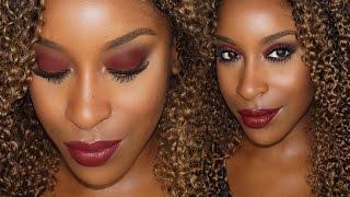 Vampy Fall Makeup Bold Eye + Lip | Jackie Aina