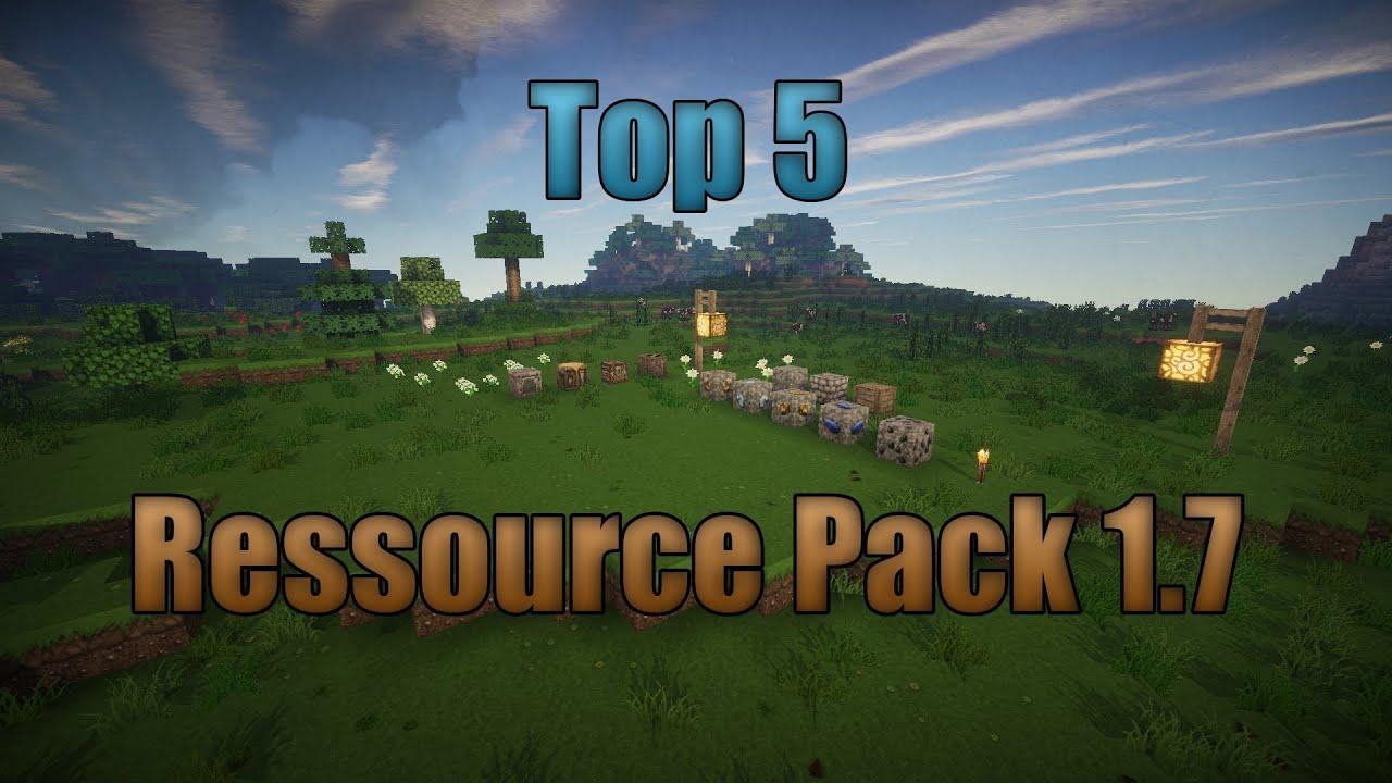 Top 5   Les meilleurs Ressource pack / Texture Pack 1.7 FR/HD - YouTube