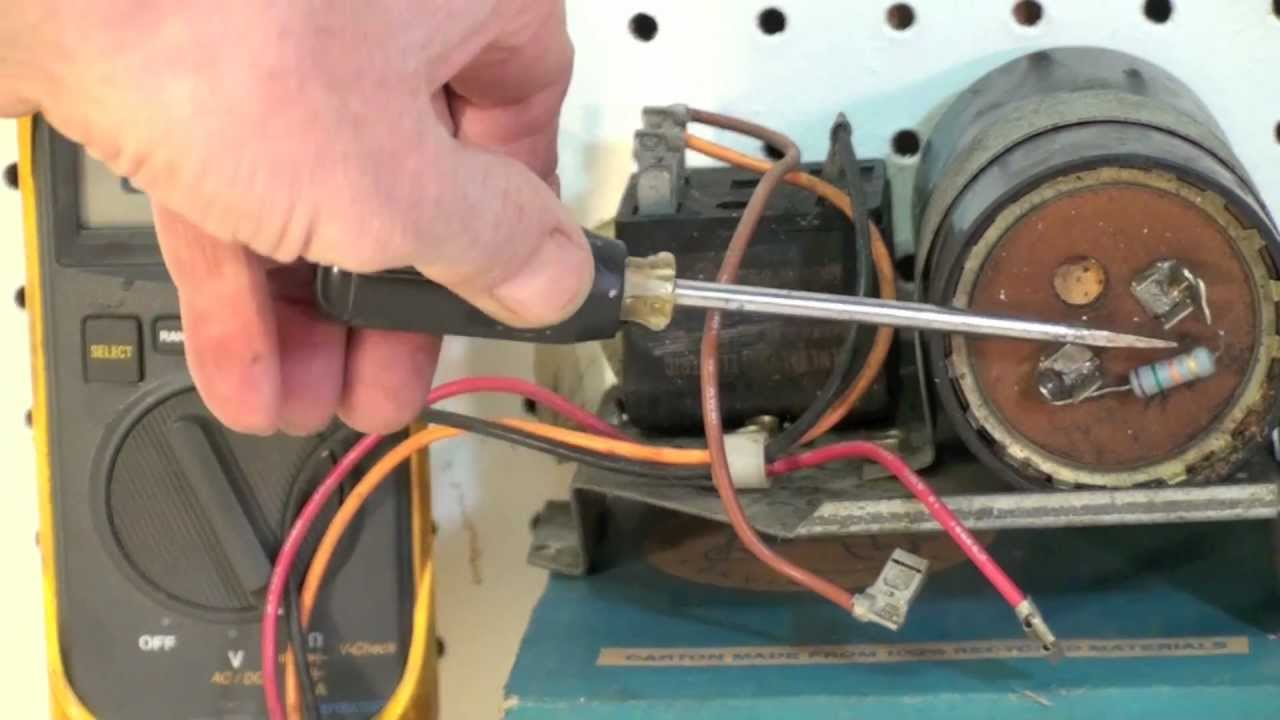 How To Test Capacitors And Troubleshoot For Hvac Youtube Single Phase Motor Wiring Diagram With Capacitor Start