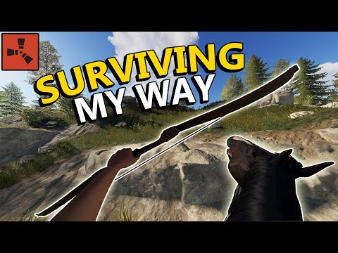 Rust - SURVIVING WIPE DAY WITHOUT FARMING A SINGLE TREE OR NODE! (Rust Solo Survival)