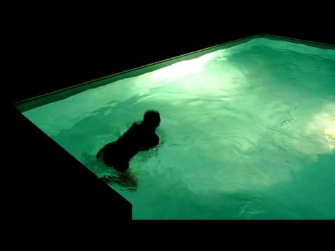 Enjoying a night swim at La Forge -  the Brittany holiday cottage
