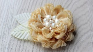 Воздушная Роза - Брошь из Ткани 🌸 Yuliana M