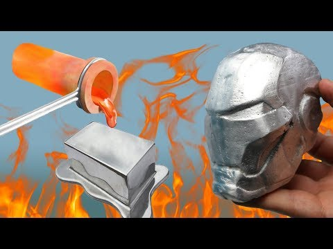 Aus geschmolzenem Aluminium eine Ironman Maske gefertigt - DiY
