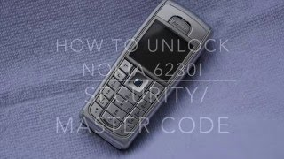 How to unlock - Nokia 6230i Security Code, Master Code,
