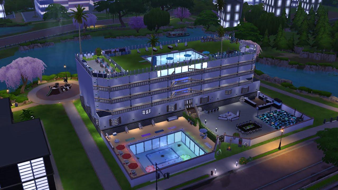 7 villa di lusso a 7 piani the sims 4 youtube for Piani di casa di lusso log
