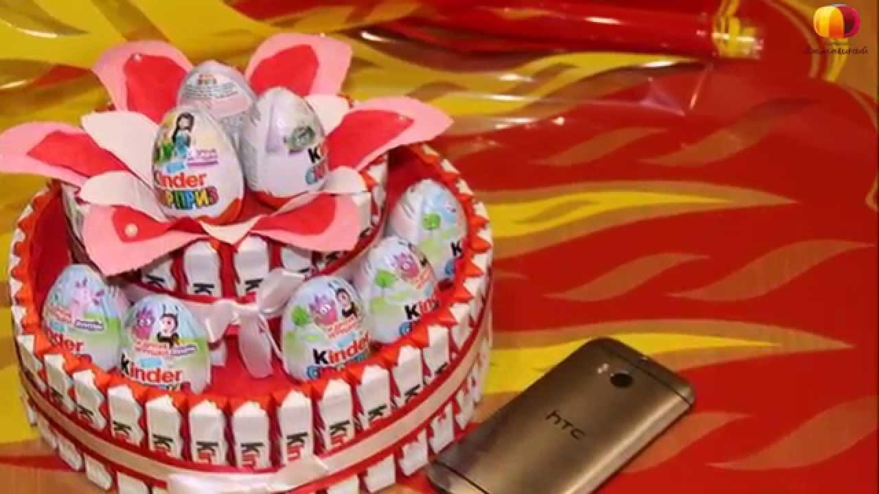 Торт из конфет из киндер и конфет своими руками фото 540