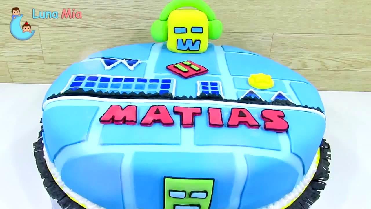TORTA GEOMETRY DASH / Todos los niveles / cake geometry dash ...