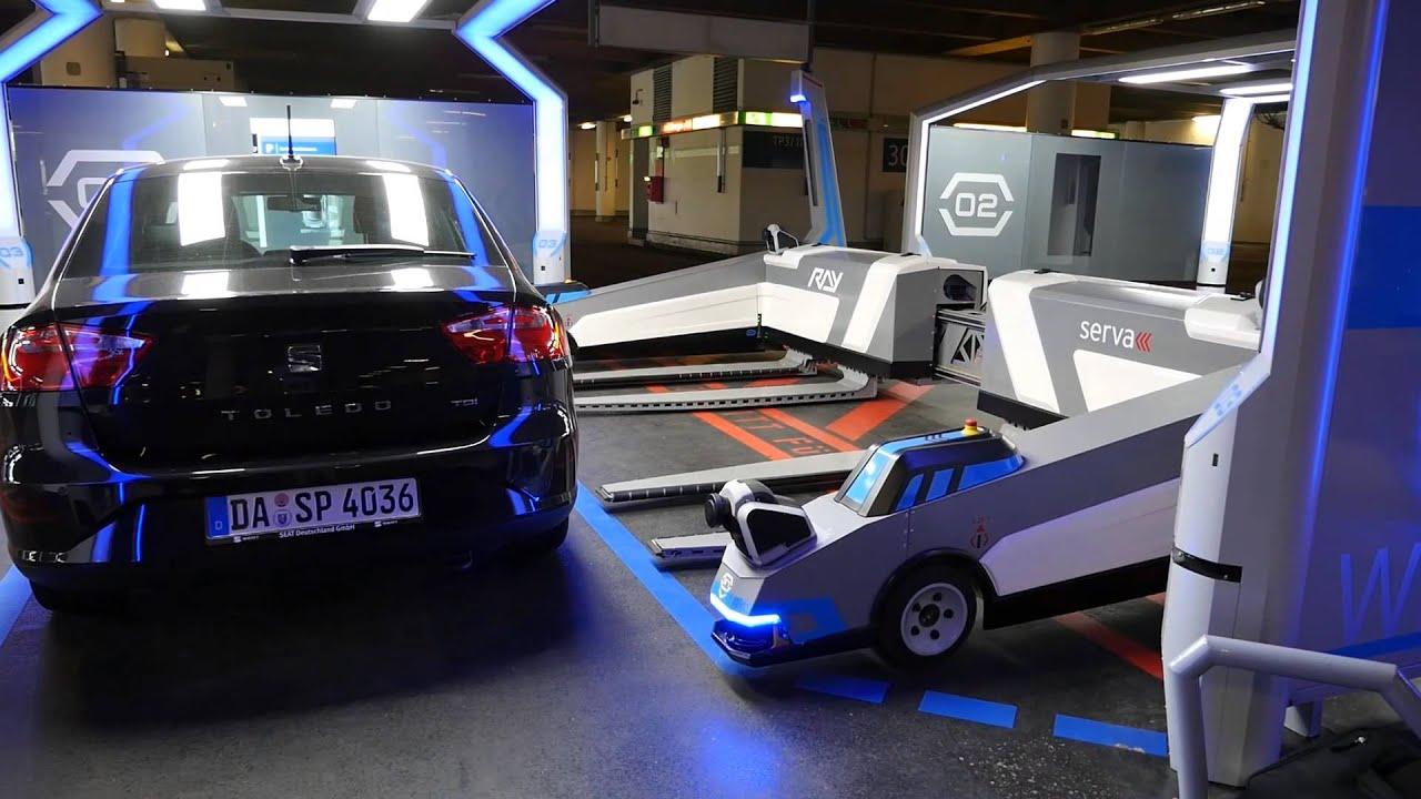 d sseldorf airport dus serva automated robot parking. Black Bedroom Furniture Sets. Home Design Ideas