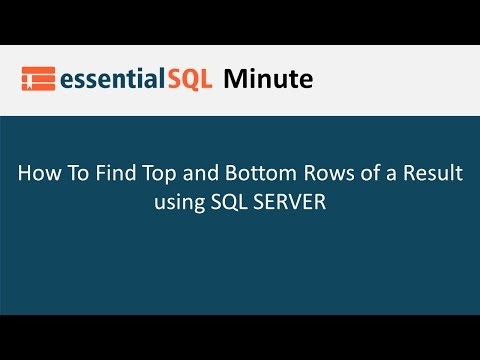 How To Get Top or Bottom Rows In SQL
