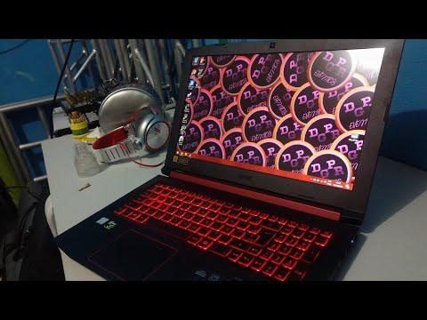 Unboxing Acer Nitro 5 AN515-52 7974 Core I7 8750H 8ºG 128gb ssd + 1tb 8gb 1050TI 4GB