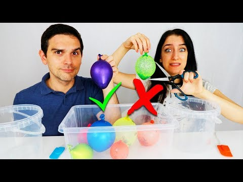 NON SCEGLIERE IL PALLONCINO SBAGLIATO SLIME CHALLENGE! SLIME POPPING BALLOONS