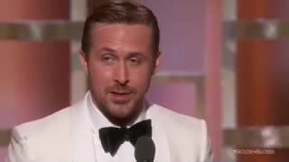 Райан Гослинг выиграл лучшую мужскую роль премии Золотой глобус 2017 [Русские Субтитры]