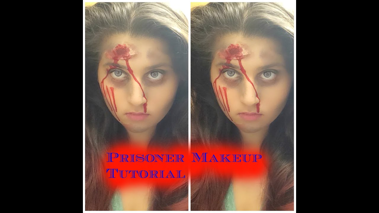 Halloween Prisoner Makeup Tutorial | Frappuccino Beauty - YouTube