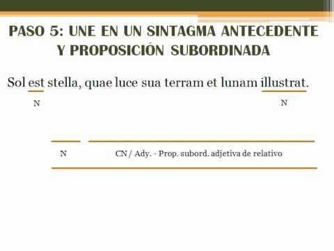 Subordinadas De Relativo En Latín