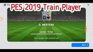 PES 2019 Train player. And Player to Trainer Convert Trick on PES 2019 Mobile.