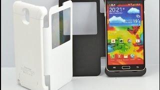 Чехол-аккумулятор для Samsung Galaxy Note 3 (4200 mAh). Книжка! Обзор