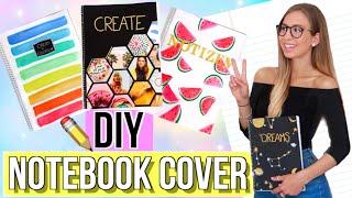 BACK TO SCHOOL DIY NOTEBOOK COVER ✏️ DIY School Supplies Deutsch
