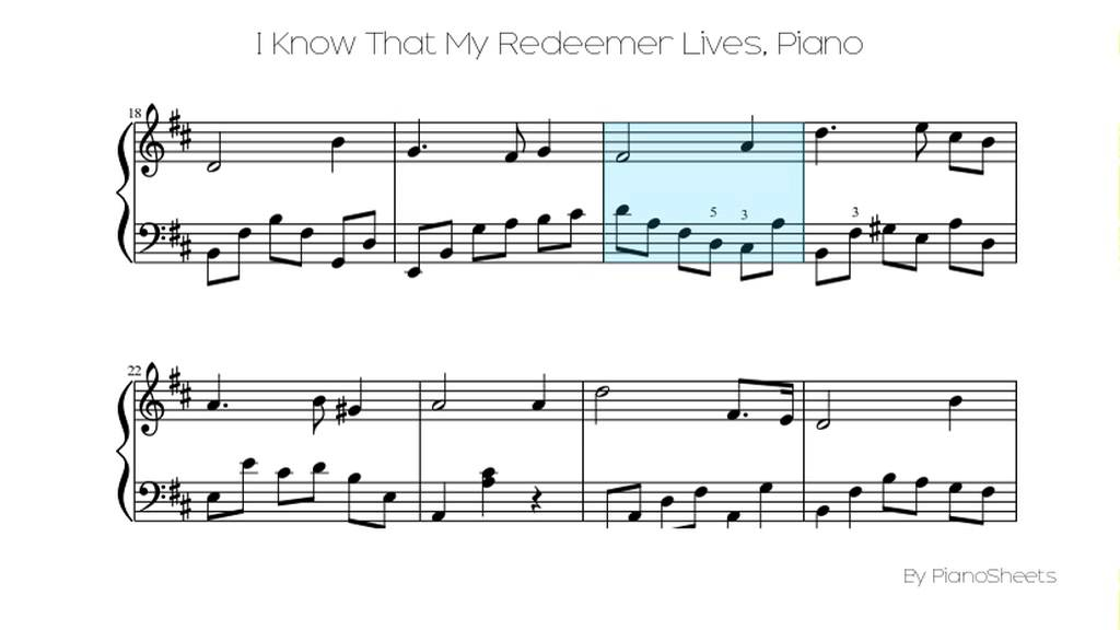 I Know That My Redeemer Lives Piano Solo Youtube