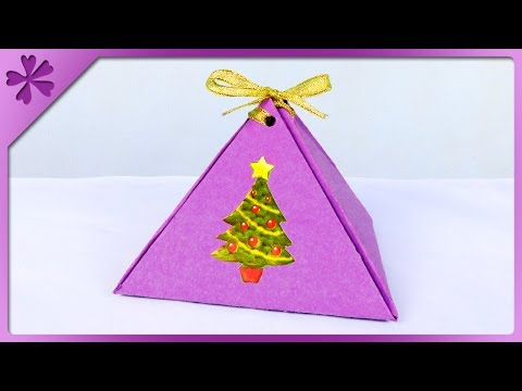 DIY Pyramid gift box (ENG Subtitles) - Speed up #277