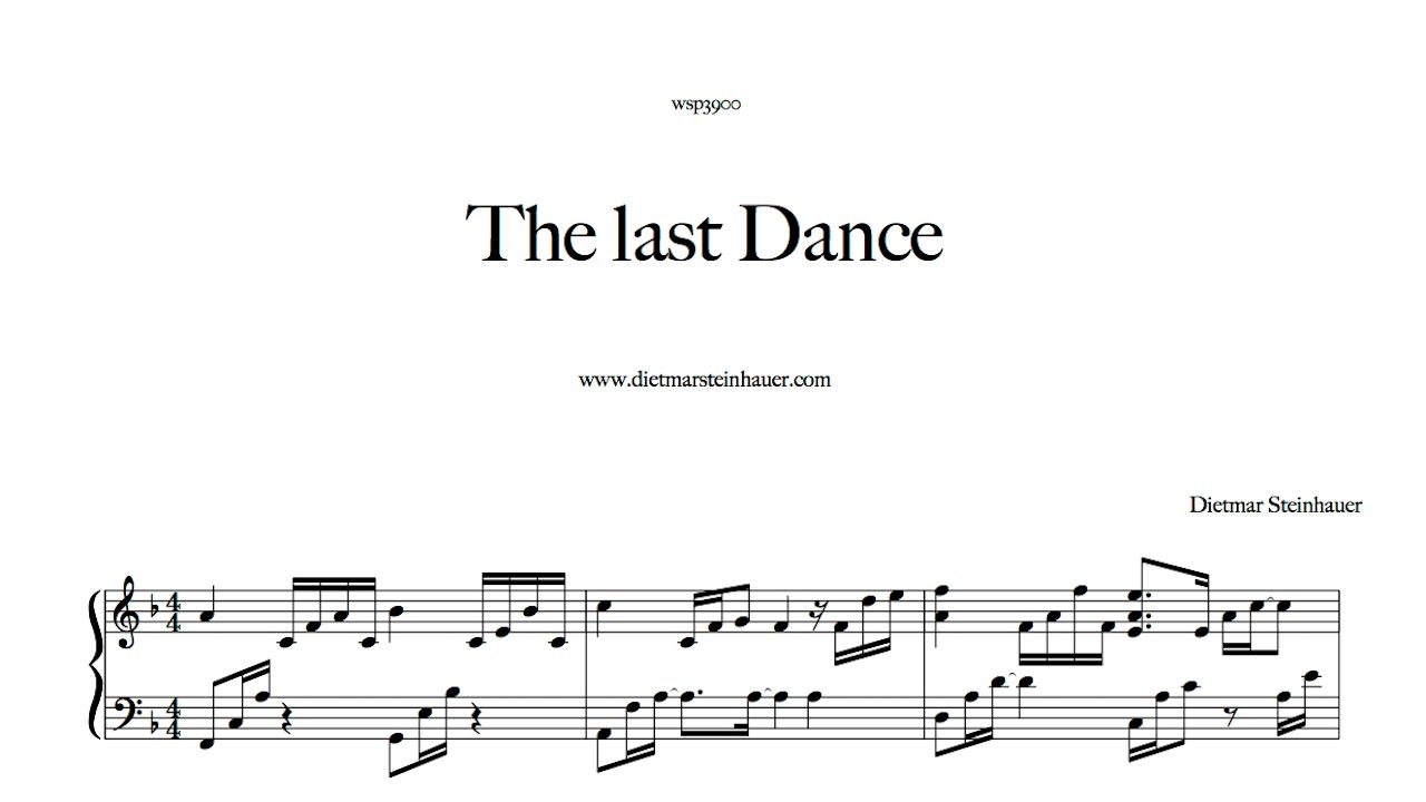 The last dance youtube for Dietmar steinhauer