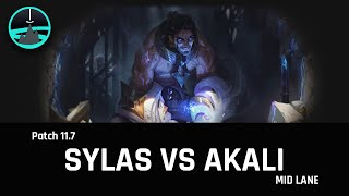 Sylas vs Akali mid - Patch 11.7 - Plat Ranked