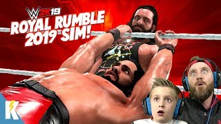 2019 Royal Rumble Match in WWE 2k19 (WITH PREDICTIONS!) KIDCITY GAMING