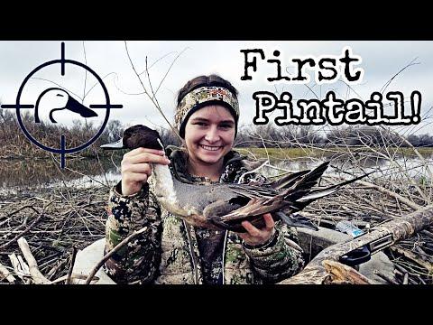 Cheyenne's Birthday Pintail! CA Duck Hunting 2020 01-22-20