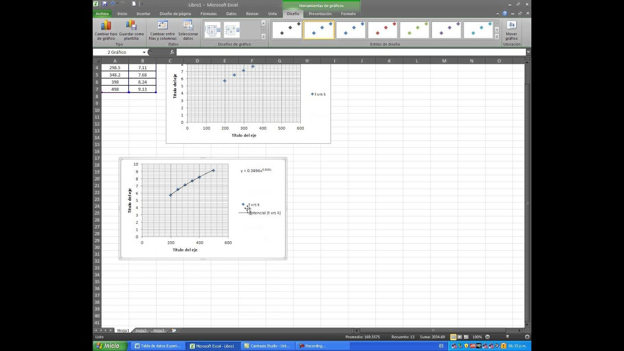 grafica en escala logaritmica en excel - YouTube